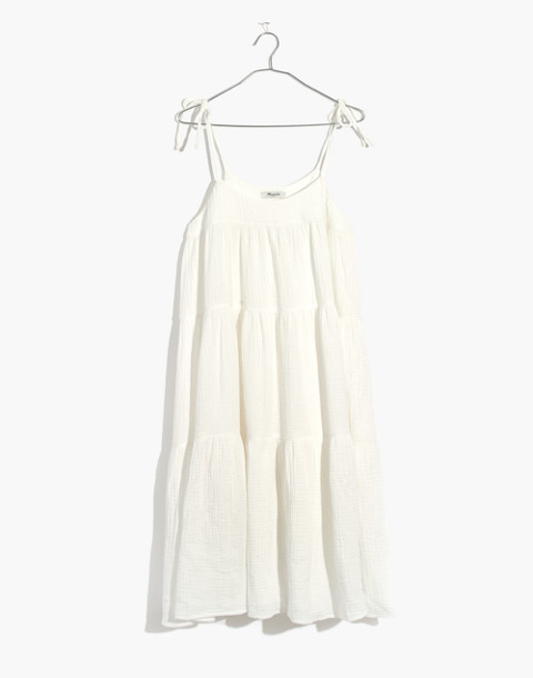 Maderas Cover-Up Dress in bright ivory image 4