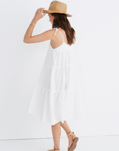 Maderas Cover-Up Dress in bright ivory image 1