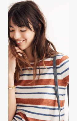 Hi-Fi Shrunken Tee in Mary-Lou Stripe
