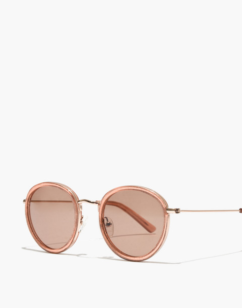 Glitter Fest Aviator Sunglasses in shimmery coral crystal image 2
