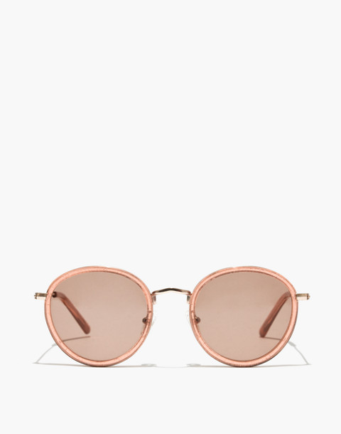 Glitter Fest Aviator Sunglasses in shimmery coral crystal image 1