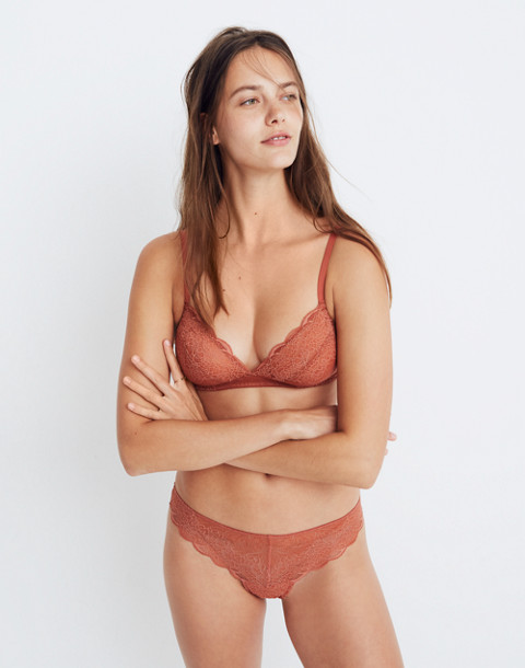 Lace Camila Bralette in afterglow red image 3