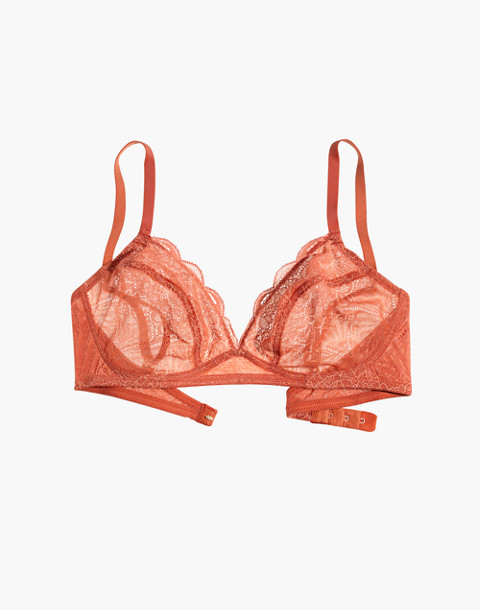 Lace Camila Bralette in afterglow red image 4