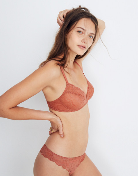 Lace Camila Bralette in afterglow red image 1