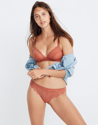 Lace Tanga in afterglow red image 1