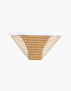Rib Knit Banded Bikini in Costello Stripe