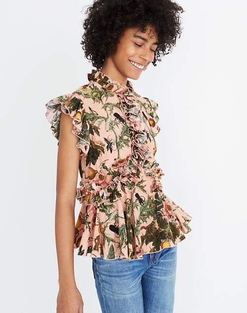 19f61cf0aba Karen Walker® Fantasy Ruffled Print Top in null ...