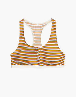 Rib Knit Jayna Bralette in Costello Stripe