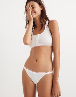 Rib Knit Banded Bikini