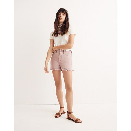 High-Rise Denim Shorts: Garment-Dyed Edition