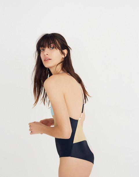 Mara Hoffman® Emma One-Piece Swimsuit in peach multi image 2