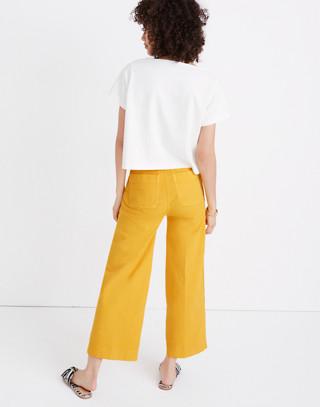 Emmett Wide-Leg Crop Pants in Greek Gold