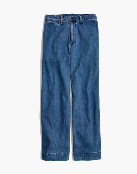 Tall Emmett Wide-Leg Crop Jeans in Rosalie Wash in rosalie wash image 4