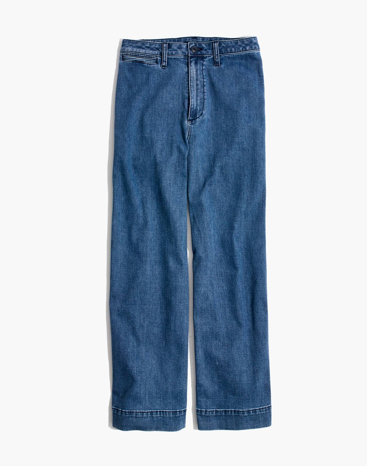 Tall Emmett Wide-Leg Crop Jeans in Rosalie Wash in rosalie wash image 4