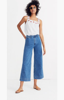 Emmett Wide-Leg Crop Jeans in Rosalie Wash