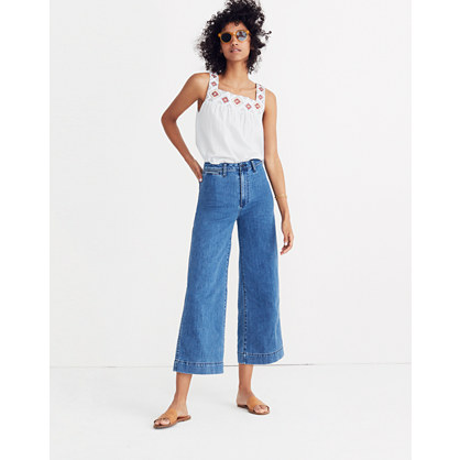 Tall Emmett Wide-Leg Crop Jeans in Rosalie Wash