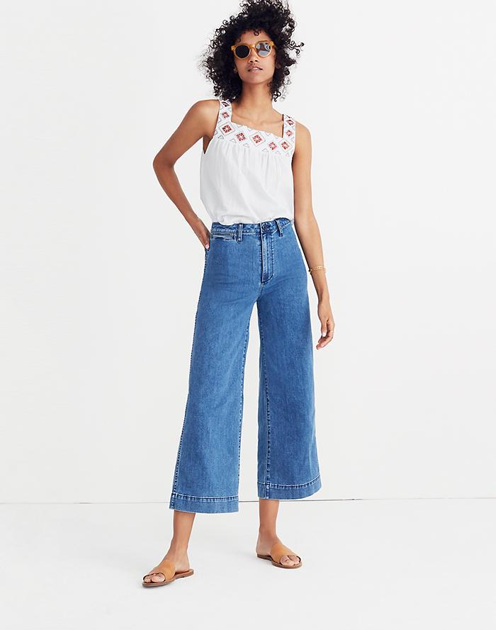 a995f3b0f3435 Emmett Wide-Leg Crop Jeans in Rosalie Wash