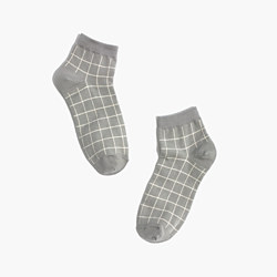 Grid Anklet Socks