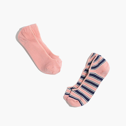 Two-Pack Solid & Striped Low-Profile Socks