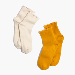 Two-Pack Ruffled Ankle Socks