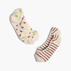 Two-Pack Desert & Striped Low-Profile Socks