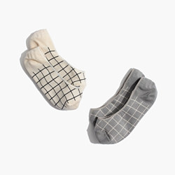 Two-Pack Grid Low-Profile Socks