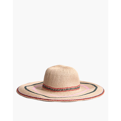 Madewell X Biltmore® Tulum Striped Straw Hat by Madewell