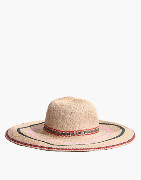 Madewell x Biltmore® Tulum Striped Straw Hat in multi stripe image 1