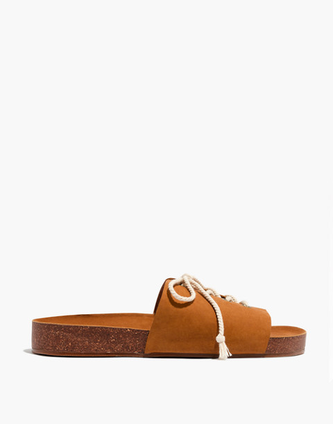 The Aileen Slide Sandal in acorn image 3