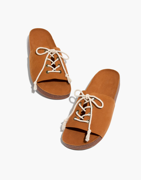 The Aileen Slide Sandal in acorn image 1