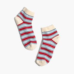 Fine Stripe Anklet Socks