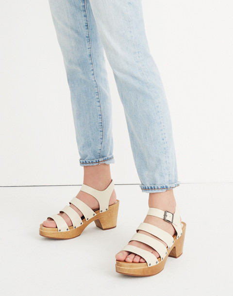 The Sigrid Clog Sandal in vintage canvas image 2