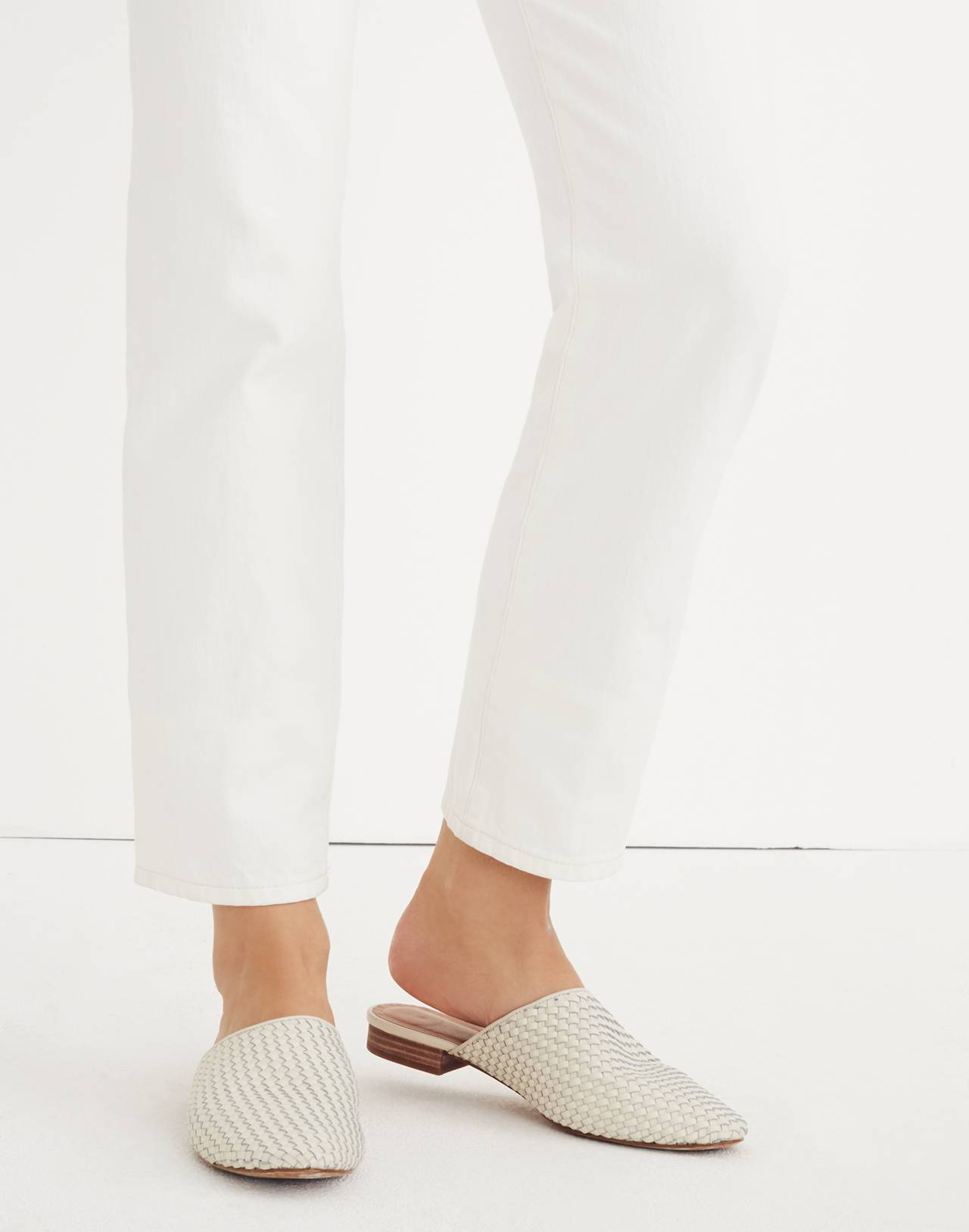 The Cassidy Woven Mule in vintage canvas image 2