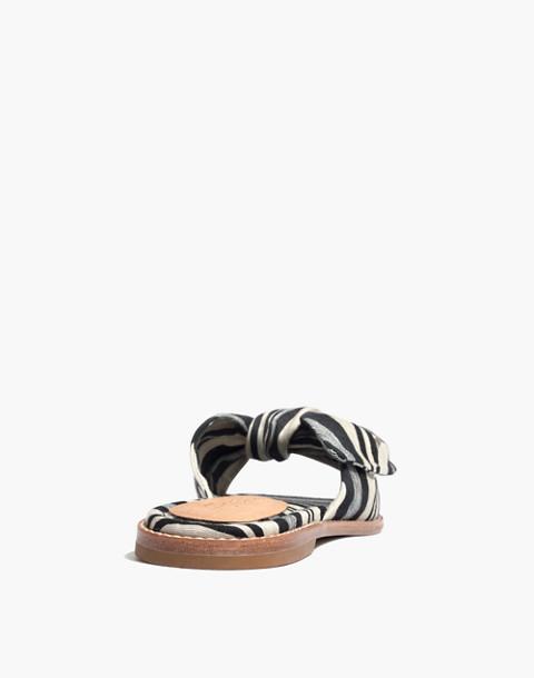 The Naida Half-Bow Sandal in Evelyn Stripe