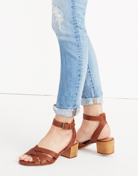 The Lucy Sandal in english saddle image 2