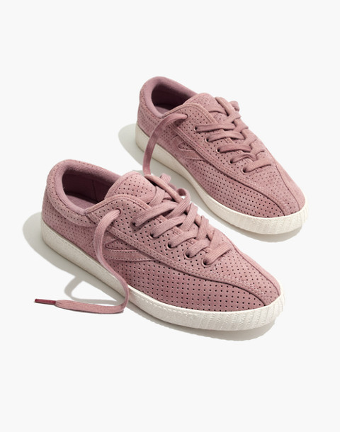Madewell x Tretorn® Nylite Bold III Perforated Platform Sneakers in vintage mauve image 1