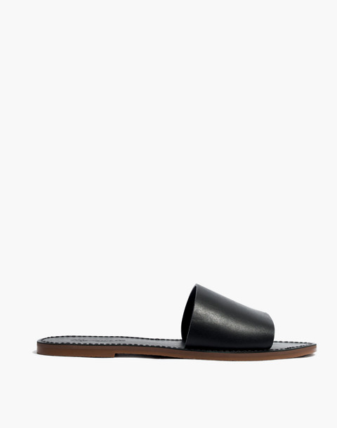 The Boardwalk Post Slide Sandal in true black image 2