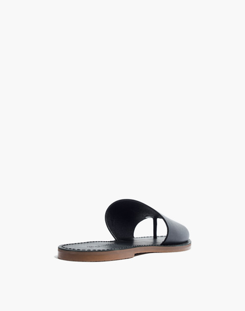 The Boardwalk Post Slide Sandal in true black image 3