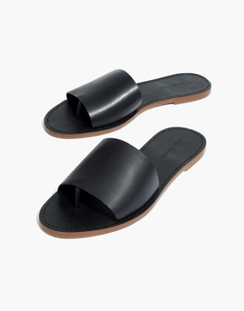 The Boardwalk Post Slide Sandal in true black image 1