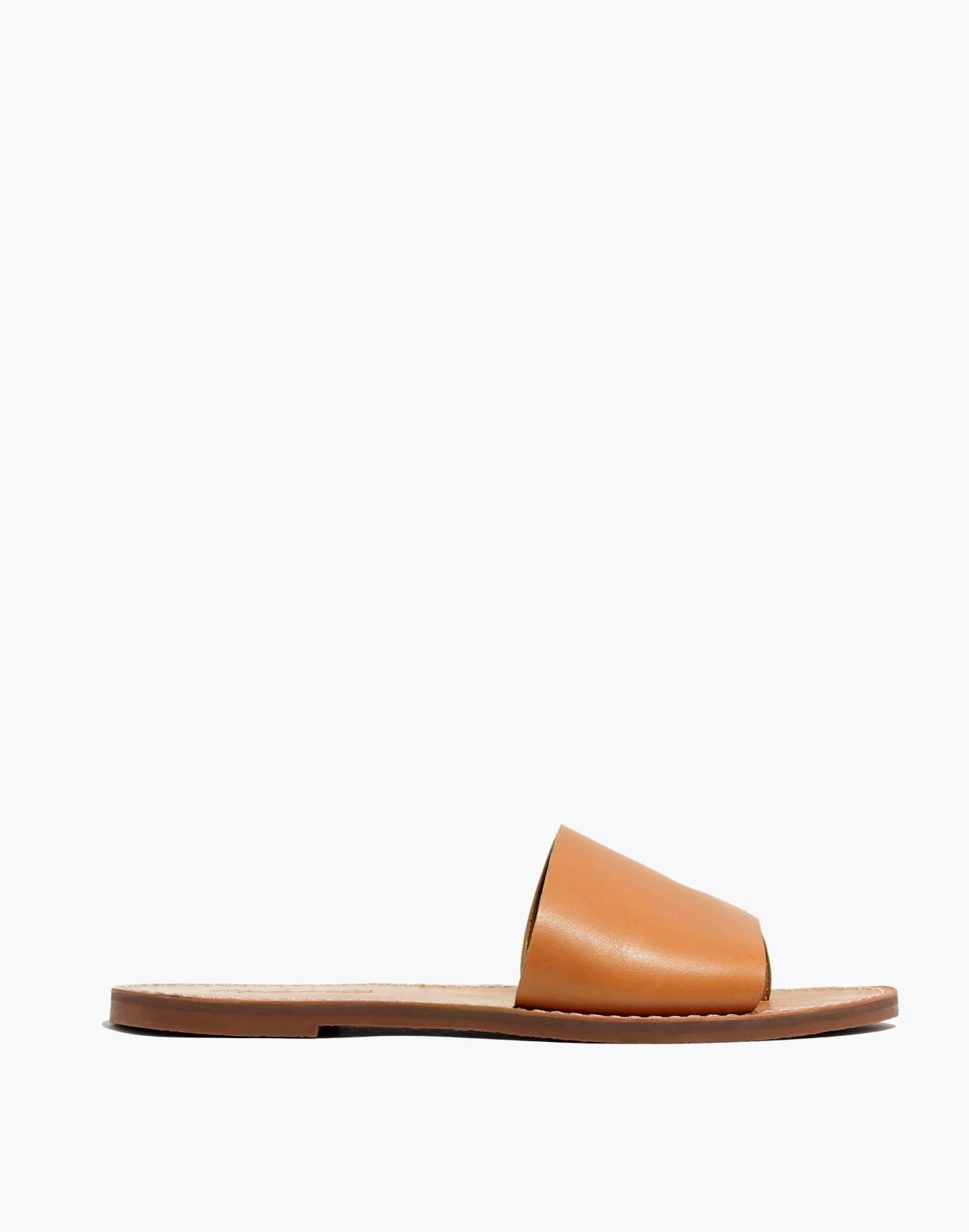 The Boardwalk Post Slide Sandal in desert camel image 3