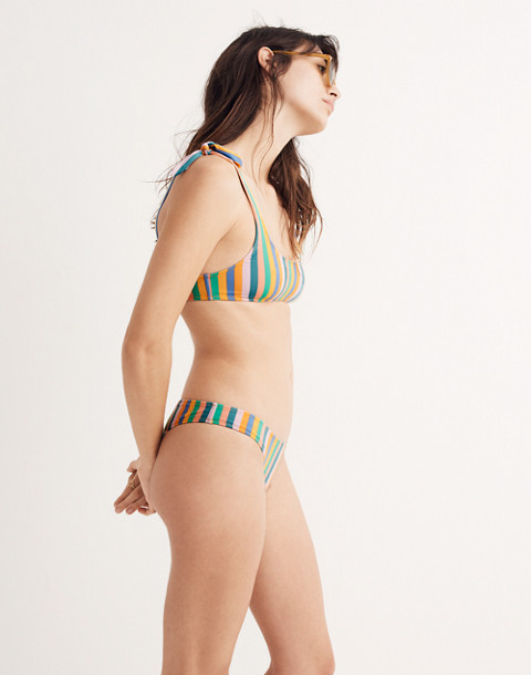 J.Crew Playa Nantucket Tie-Shoulder Bikini Top in Stripe in stripe multi image 2