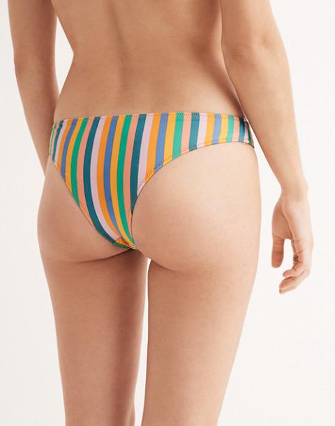 J.Crew Playa Nantucket Cheeky Bikini Bottom in Stripe in stripe multi image 2