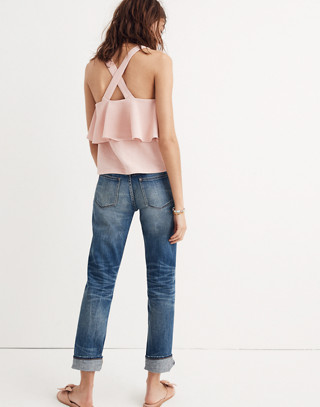 Texture & Thread Tiered Tank Top in sheer pink image 2