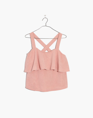 Texture & Thread Tiered Tank Top in sheer pink image 4