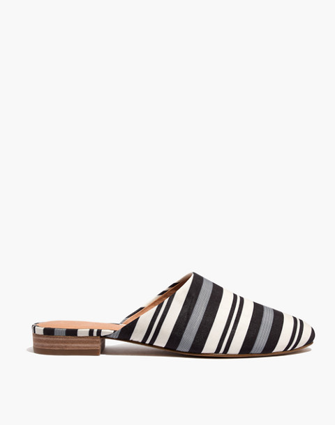 The Cassidy Mule in Evelyn Stripe in stone image 3