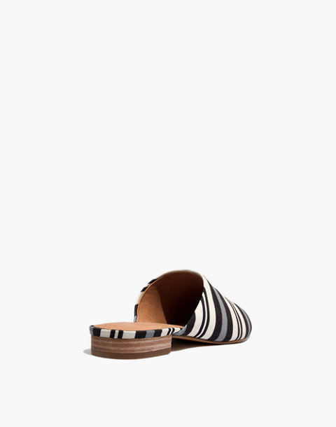 The Cassidy Mule in Evelyn Stripe in stone image 4