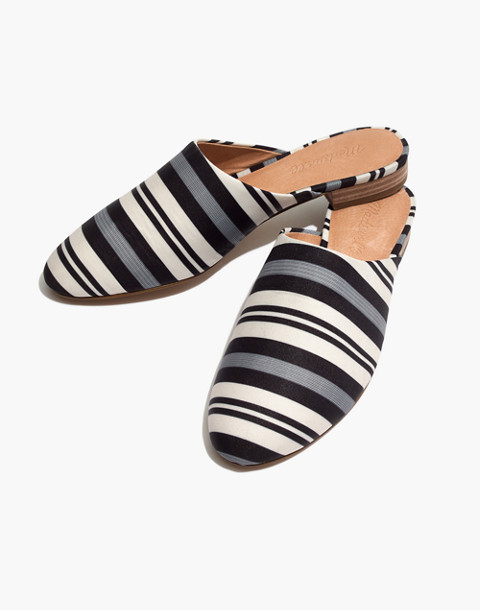 The Cassidy Mule in Evelyn Stripe in stone image 1