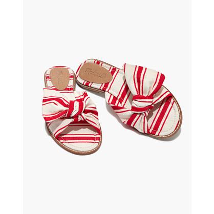 The Naida Half-Bow Sandal in Marcia Stripe