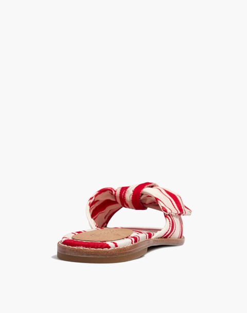 The Naida Half-Bow Sandal in Marcia Stripe in muslin image 4