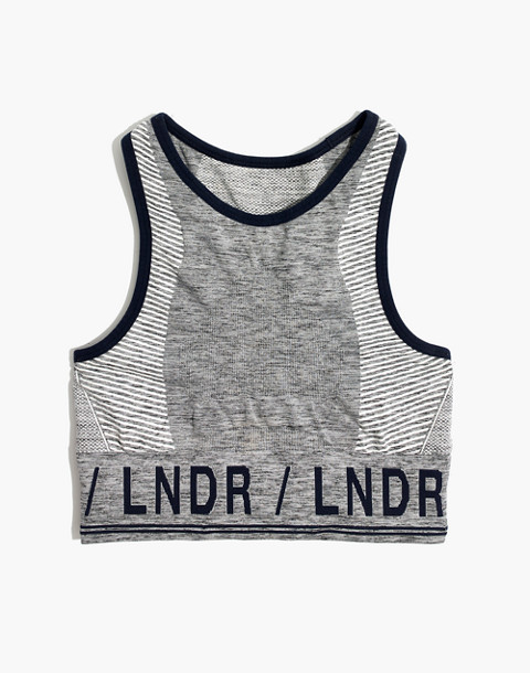 LNDR™ Aero Sports Bra in grey marl image 4